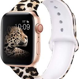 EXCHAR Compatible with App le Watch Band 40mm Series 6 Series 5 Series 4 Fadeless Pattern Printed... | Amazon (US)
