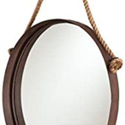 SEI Furniture Melissa Round Decorative Wall Mirror, Rust   Amazon (US)
