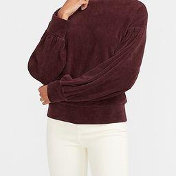 Corduroy Mock Neck Sweatshirt   Express