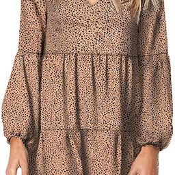Eytino Women Summer Tunic Dress V Neck Long Sleeve Casual Loose Flowy Swing Shift Dress(S-XL)   Amazon (US)