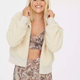 OFFLINE Sherpa Cropped Hoodie | American Eagle Outfitters (US & CA)