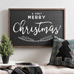 Black and White A Very Merry Christmas Plaque | Kirkland's Home