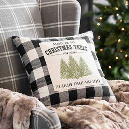 Buffalo Check Christmas Trees Pillow | Kirkland's Home