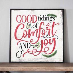 New!Good Tidings of Comfort and Joy Wooden Wall Plaque | Kirkland's Home