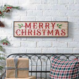 Wooden Merry Christmas Antique Sign | Kirkland's Home