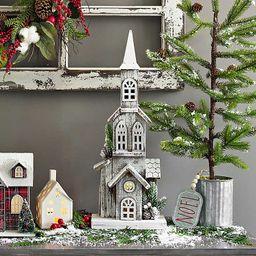 Wooden Christmas Church LED Statue | Kirkland's Home