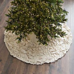 Cream Ruffle Christmas Tree Skirt | Kirkland's Home