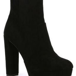 Kianne Suede Platform Block Heel Booties | Dillards