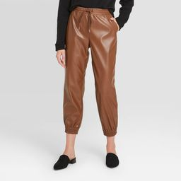 Women's High-Rise Ankle Length Jogger Pull-On Pants - A New Day Brown XS   Target