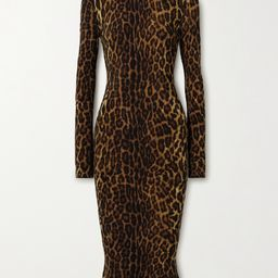 Norma KamaliLeopard-print stretch-jersey turtleneck midi dress | Net-a-Porter (Global excpt. US)