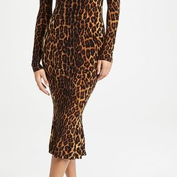 Long Sleeve Turtleneck Fishtail Dress | Shopbop