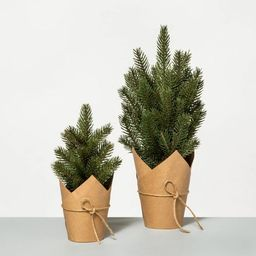 Faux Pine Tree with Craft Paper Planter - Hearth & Hand™ with Magnolia   Target
