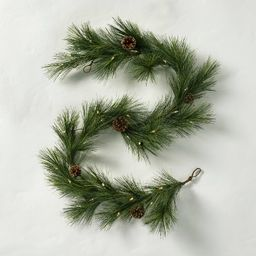 6' Pre-Lit LED Faux Pine Garland with Pinecones - Hearth & Hand™ with Magnolia   Target