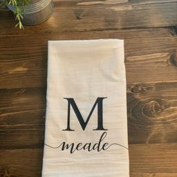 Personalized Tea Towel, Personalized Dish Towel, Initial Dish Towel, Kitchen Decor, Wedding Gift,...   Etsy (US)