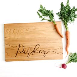 Last Name Board. Personalized Cutting Board for custom wedding gift, engagement or anniversary pr...   Etsy (US)