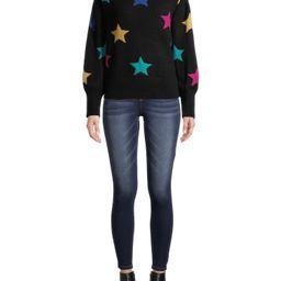 Heart N Crush Women's Novelty Star Crewneck Sweater   Walmart (US)