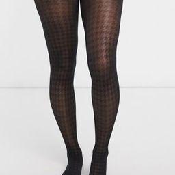 Gipsy dogtooth 30 denier tights in black   ASOS (Global)