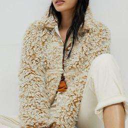 Brenna Faux Fur Coat   Anthropologie (US)