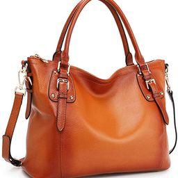 Kattee Women's Genuine Leather Handbags Shoulder Tote Organizer Top Handles Crossbody Bag Satchel...   Amazon (US)