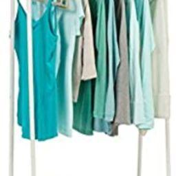IRIS USA Metal Garment Rack with 2 Wood Shelves, White and Light Brown PI-B2   Amazon (US)