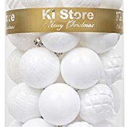 KI Store 34ct Christmas Ball Ornaments White Shatterproof Christmas Decorations Tree Balls for Ho...   Amazon (US)