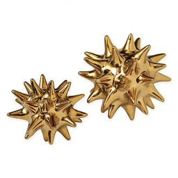 Global Views Urchin Large Sculpture in Bright Gold   Bed Bath & Beyond