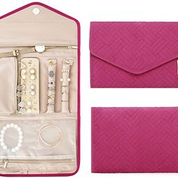 BAGSMART Travel Jewelry Organizer Roll Foldable Jewelry Case for Journey-Rings, Necklaces, Bracel... | Amazon (US)