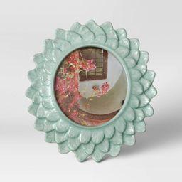 "4"" x 4"" Stoneware Frame with Transparent Crackle Glaze Green - Opalhouse™ | Target"