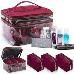 Travel Makeup Bags | Cosmetic Bag For On The Go | Portable Makeup Bags | Travel Cosmetic Bags Wit... | Amazon (US)