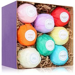 HanZá 8 Bath Bombs Gift Set Ideas - Vegan Gifts for Women, Mom, Girls, Teens, Her, Mothers, Wife... | Amazon (US)