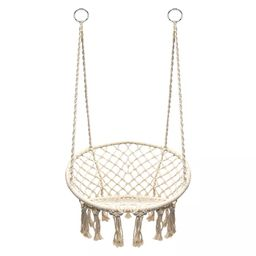 Hanging Rope Chair Off White - Sorbus   Target