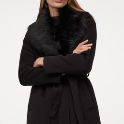 Coat with Faux Fur Collar   H&M (US)