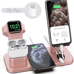 Wireless Charger Stand, CEREECOO 4 in 1 Wireless Charging Station Dock Compatible with iPhone 11/... | Amazon (US)