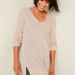 Textured V-Neck Sweater Tunic for Women | Old Navy (US)