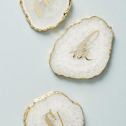 Monogram Agate Coaster   Anthropologie (US)