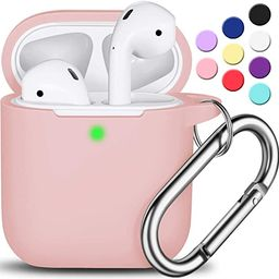 AirPods Case Cover with Keychain, Full Protective Silicone AirPods Accessories Skin Cover for Wom...   Amazon (US)