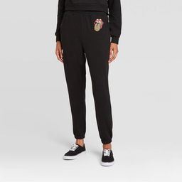 Women's Rolling Stones Graphic Jogger Pants - Black   Target