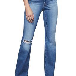 Good Flare Ripped Split Hem Flare Jeans   Nordstrom