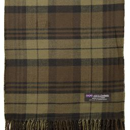 2 PLY 100% Cashmere Scarf Elegant Collection Made in Scotland Wool Solid Plaid | Amazon (US)