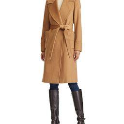 Wool-Blend Wrap Coat   Macys (US)