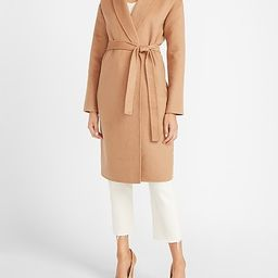 Belted Wrap Front Wool Coat   Express