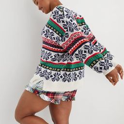 Aerie Fairisle Crew Sweater | American Eagle Outfitters (US & CA)