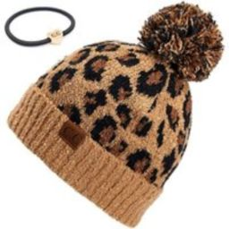 Adult2315 Leopard Pom C.c. Beanie, Embroider Beanie, Monogram Personalize Pom Hat, Embroidered Beani | Etsy (US)