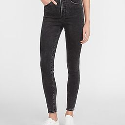 Super High Waisted Black Skinny Jeans | Express