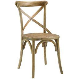 Gayla Solid Wood Cross Back Side Dining Chair | Wayfair North America