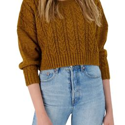 Isn't She Cute Cable Crop Sweater   Nordstrom