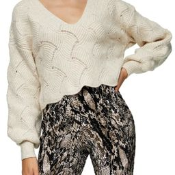 All Over Pretty Stitch Crop Sweater   Nordstrom