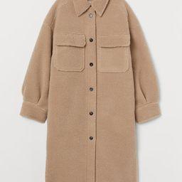 Faux shearling shirt jacket   H&M (US)