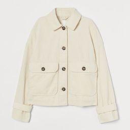 Boxy Corduroy Jacket   H&M (US)