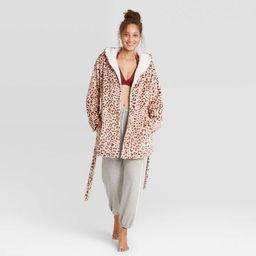 Women's Printed Cozy Dorm Robe - Colsie™   Target
